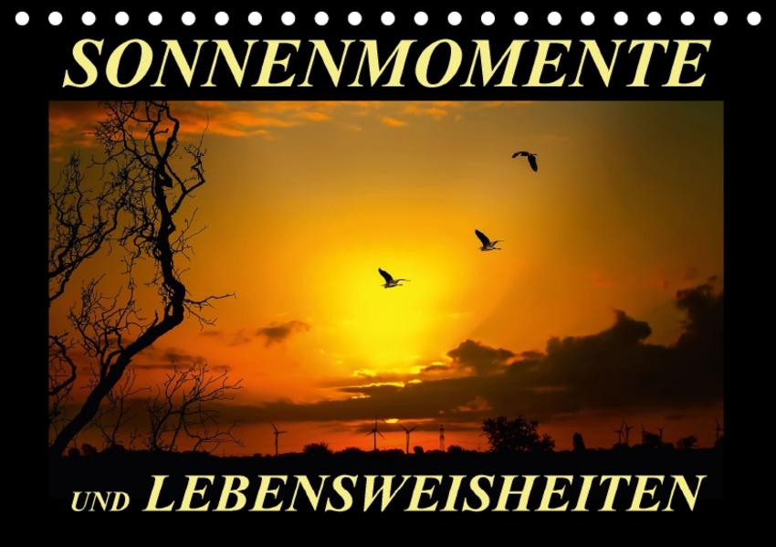 Sonnenmomente und Lebensweisheiten / Geburtstagskalender (Tischkalender 2017 DIN A5 quer) - Coverbild