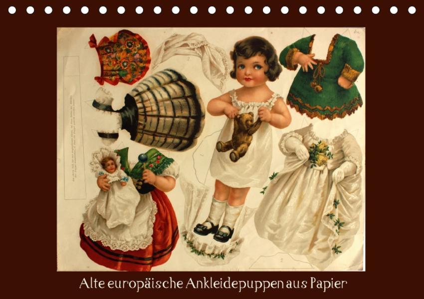 Alte europäische Ankleidepuppen aus Papier (Tischkalender 2017 DIN A5 quer) - Coverbild