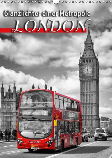 Glanzlichter einer Metropole LONDON (Wandkalender 2017 DIN A3 hoch) - Coverbild
