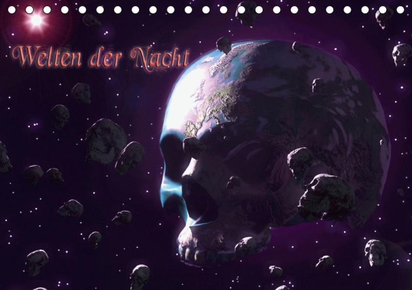 Welten der Nacht – Gothic und Dark ArtAT-Version  (Tischkalender 2017 DIN A5 quer) - Coverbild