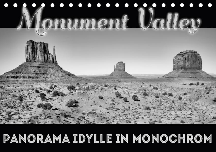 Monument Valley PANORAMA IDYLLE IN MONOCHROM (Tischkalender 2017 DIN A5 quer) - Coverbild