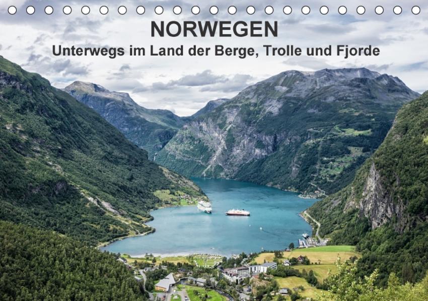 Norwegen - Unterwegs im Land der Berge, Trolle und Fjorde (Tischkalender 2017 DIN A5 quer) - Coverbild