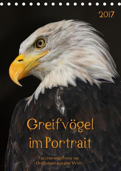 Greifvögel im PortraitAT-Version  (Tischkalender 2017 DIN A5 hoch) - Coverbild
