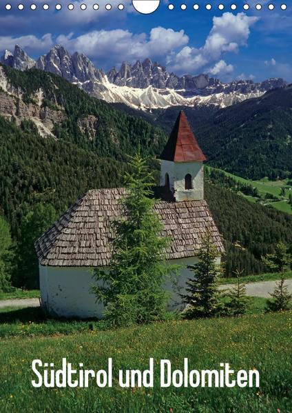 Südtirol und Dolomiten (Wandkalender 2017 DIN A4 hoch) - Coverbild