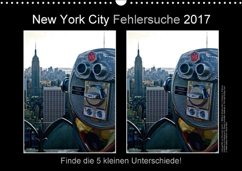 New York City Fehlersuche 2017 (Wandkalender 2017 DIN A3 quer) - Coverbild