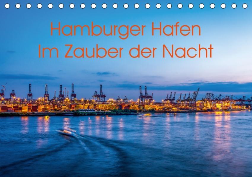 Hamburger Hafen - Im Zauber der Nacht (Tischkalender 2017 DIN A5 quer) - Coverbild