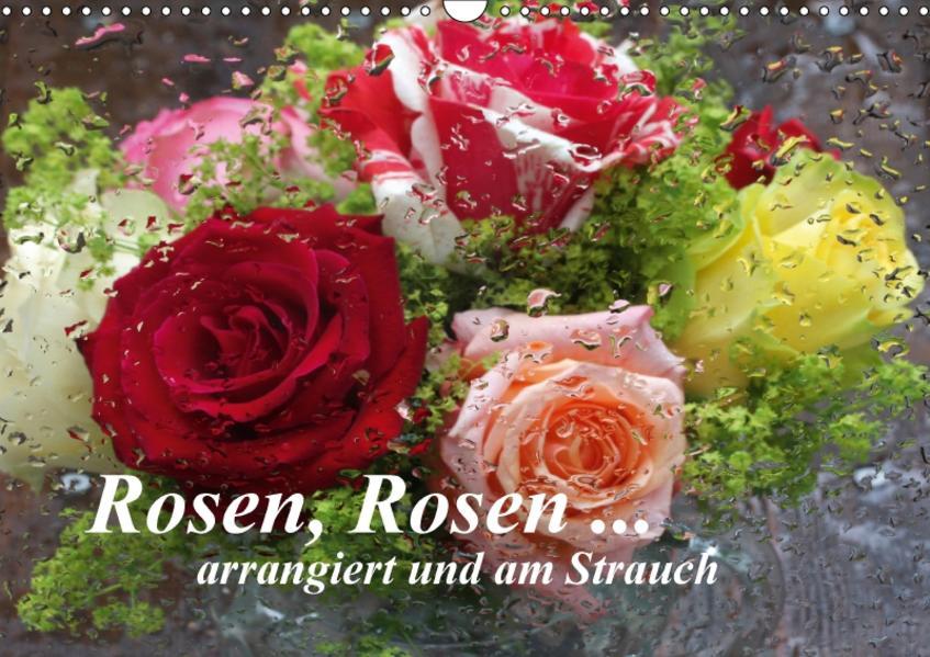 Rosen, Rosen ... arrangiert und am Strauch (Wandkalender 2017 DIN A3 quer) - Coverbild
