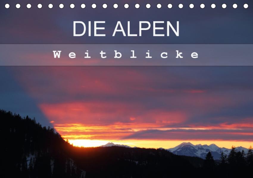 DIE ALPEN - Weitblicke (Tischkalender 2017 DIN A5 quer) - Coverbild