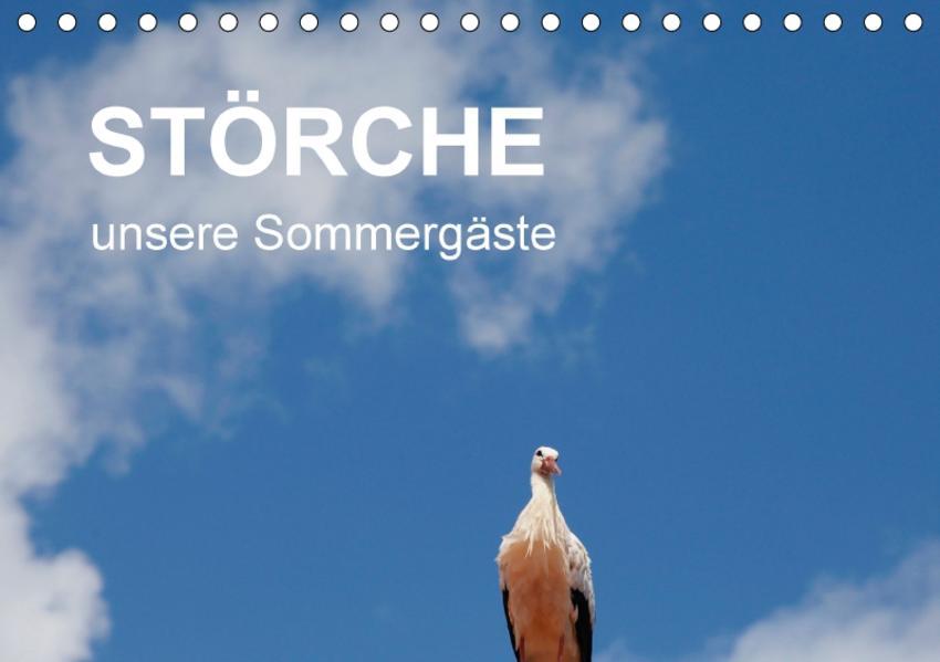 Störche - unsere Sommergäste (Tischkalender 2017 DIN A5 quer) - Coverbild