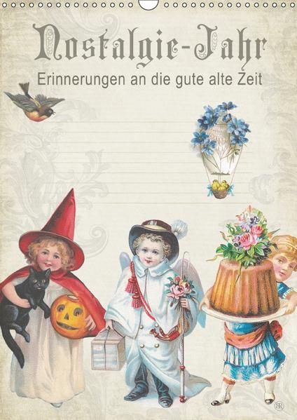 Nostalgie-Jahr, Motive aus alten Poesiealben (Wandkalender 2017 DIN A3 hoch) - Coverbild