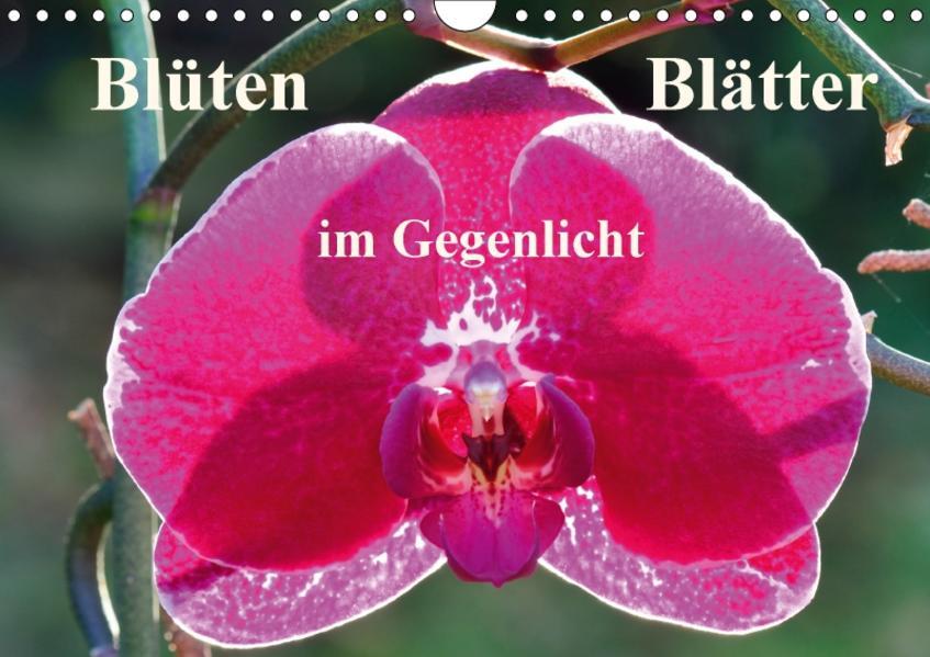 Blüten Blätter im Gegenlicht (Wandkalender 2017 DIN A4 quer) - Coverbild