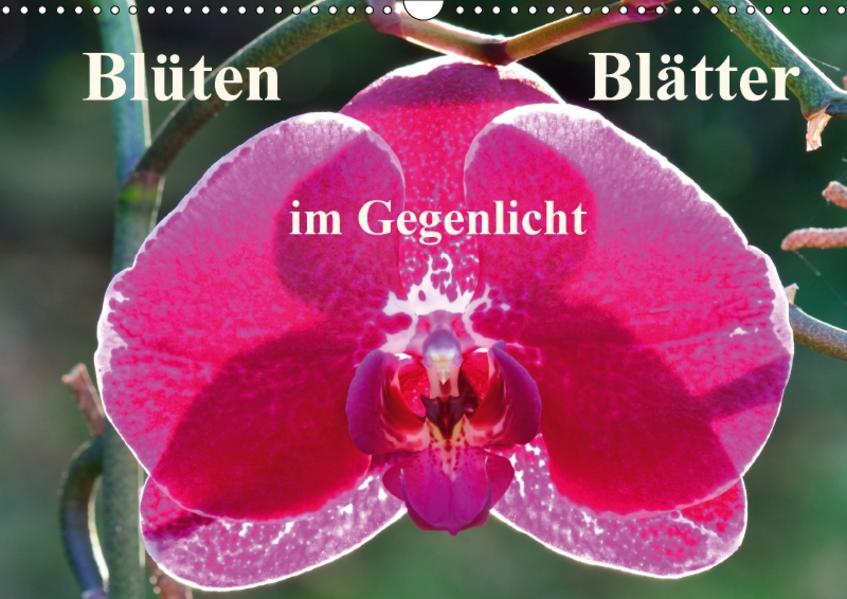 Blüten Blätter im Gegenlicht (Wandkalender 2017 DIN A3 quer) - Coverbild