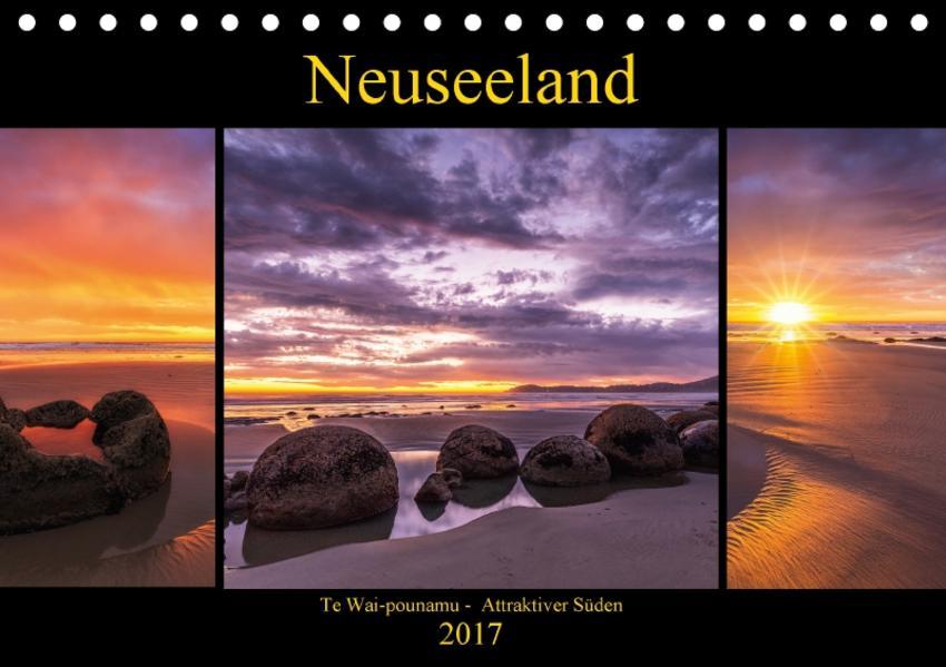 Neuseeland - Attraktiver Süden (Tischkalender 2017 DIN A5 quer) - Coverbild