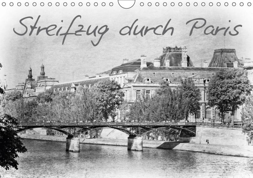 Streifzug durch Paris (Wandkalender 2017 DIN A4 quer) - Coverbild