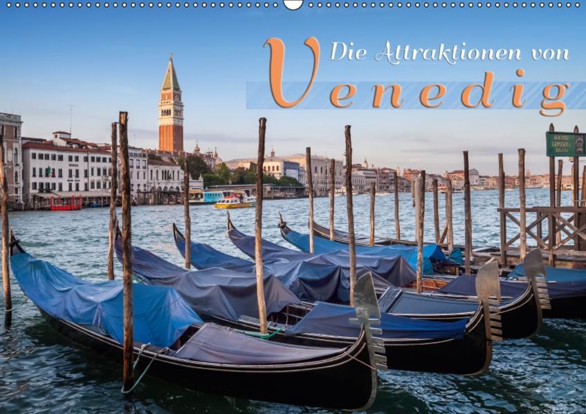 Die Attraktionen von Venedig (Wandkalender 2017 DIN A2 quer) - Coverbild