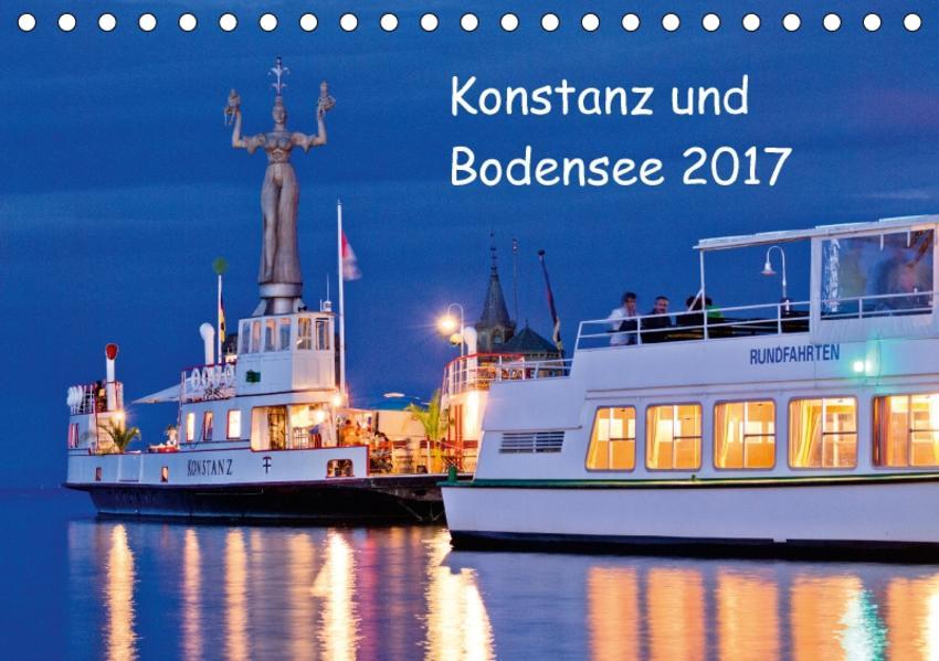 Konstanz und Bodensee 2017 (Tischkalender 2017 DIN A5 quer) - Coverbild