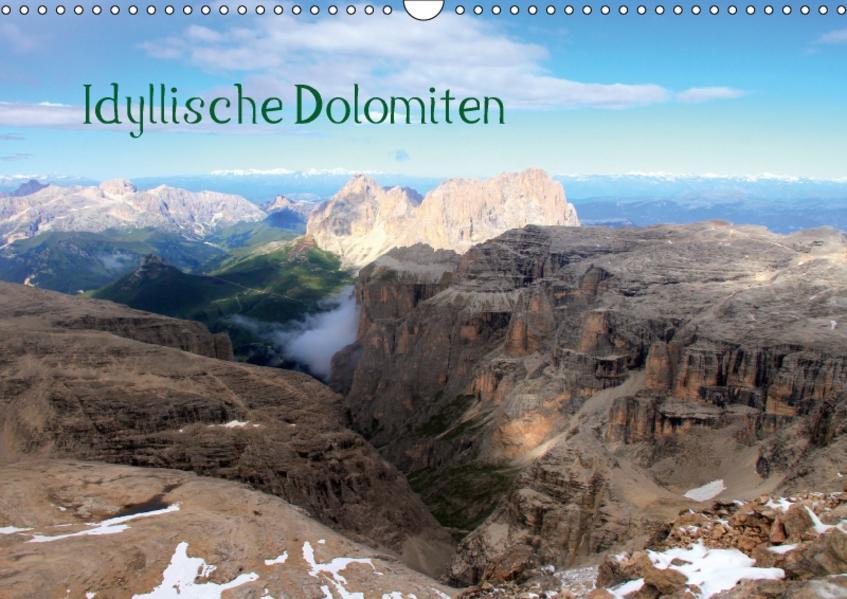 Idyllische Dolomiten (Wandkalender 2017 DIN A3 quer) - Coverbild