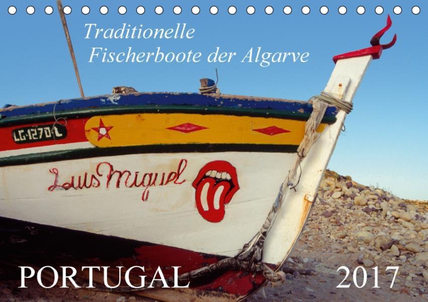Portugal, traditionelle Fischerboote an der AlgarveAT-Version  (Tischkalender 2017 DIN A5 quer) - Coverbild