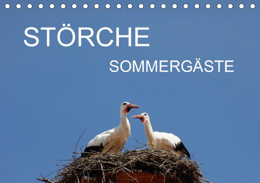 Störche - SommergästeAT-Version  (Tischkalender 2017 DIN A5 quer) - Coverbild