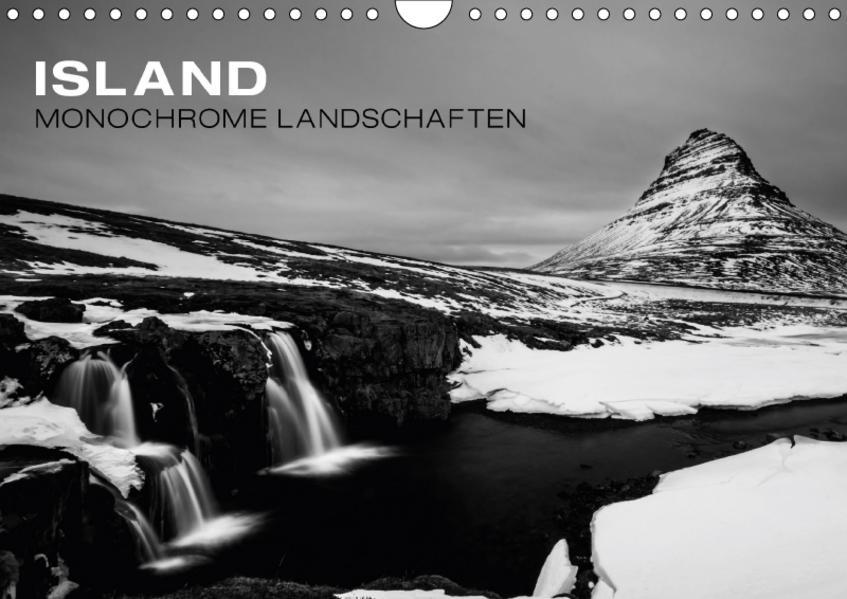 Island - Monochrome Landschaften (Wandkalender 2017 DIN A4 quer) - Coverbild