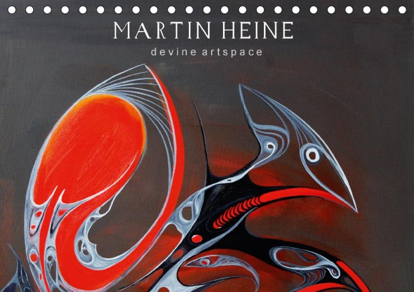 Martin Heine - devine artspace - Wandgemälde (Tischkalender 2017 DIN A5 quer) - Coverbild