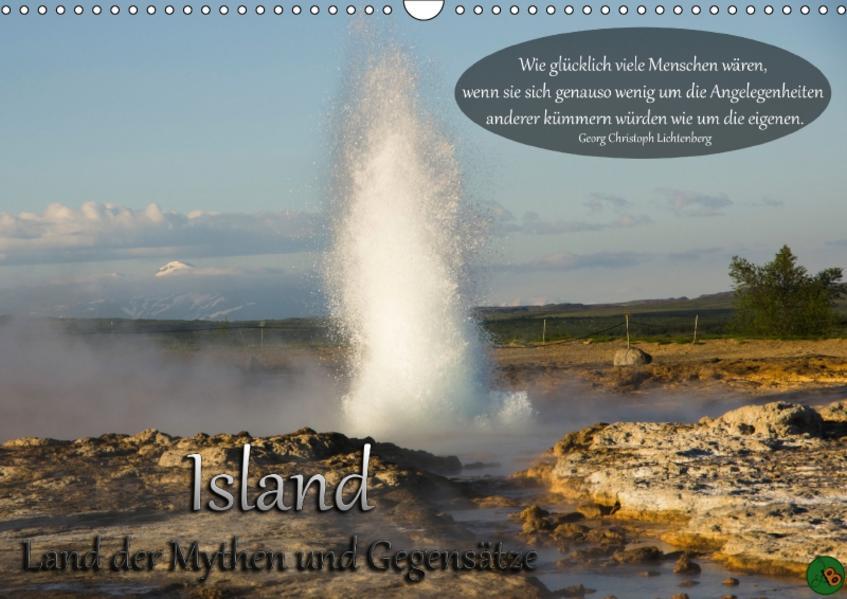 Island - Land der Mythen und Gegensätze (Wandkalender 2017 DIN A3 quer) - Coverbild