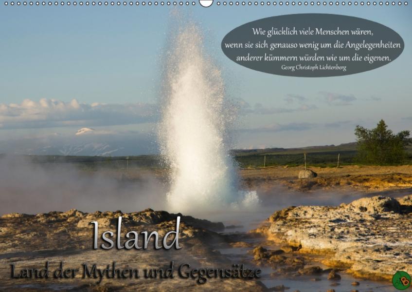 Island - Land der Mythen und Gegensätze (Wandkalender 2017 DIN A2 quer) - Coverbild