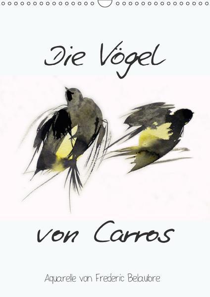 Die Vögel von Carros - Aquarelle von Frederic Belaubre (Wandkalender 2017 DIN A3 hoch) - Coverbild