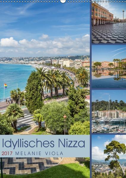 Idyllisches Nizza (Wandkalender 2017 DIN A2 hoch) - Coverbild