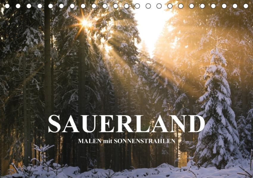 Sauerland - Malen mit Sonnenstrahlen (Tischkalender 2017 DIN A5 quer) - Coverbild