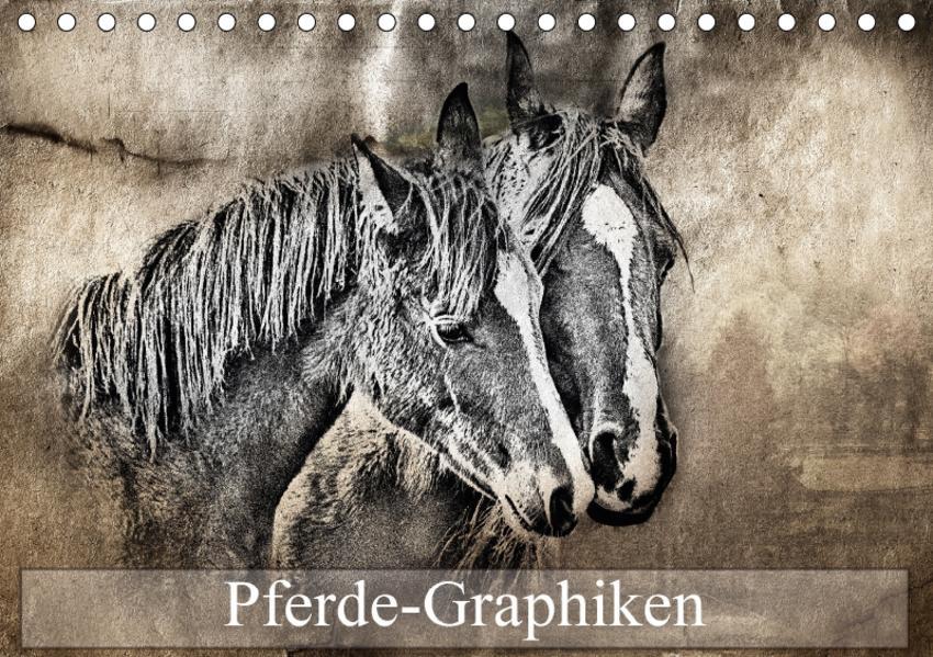 Pferde-Graphiken (Tischkalender 2017 DIN A5 quer) - Coverbild