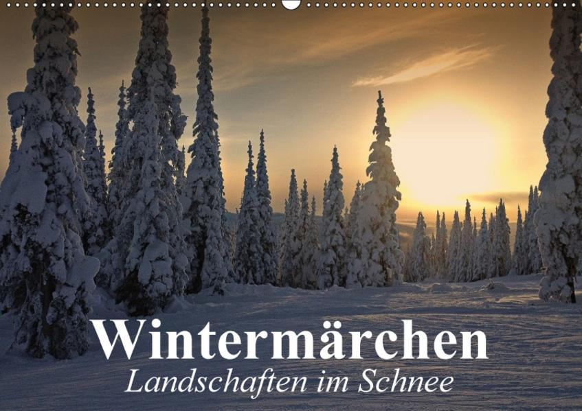 Wintermärchen Landschaften im Schnee (Wandkalender 2017 DIN A2 quer) - Coverbild