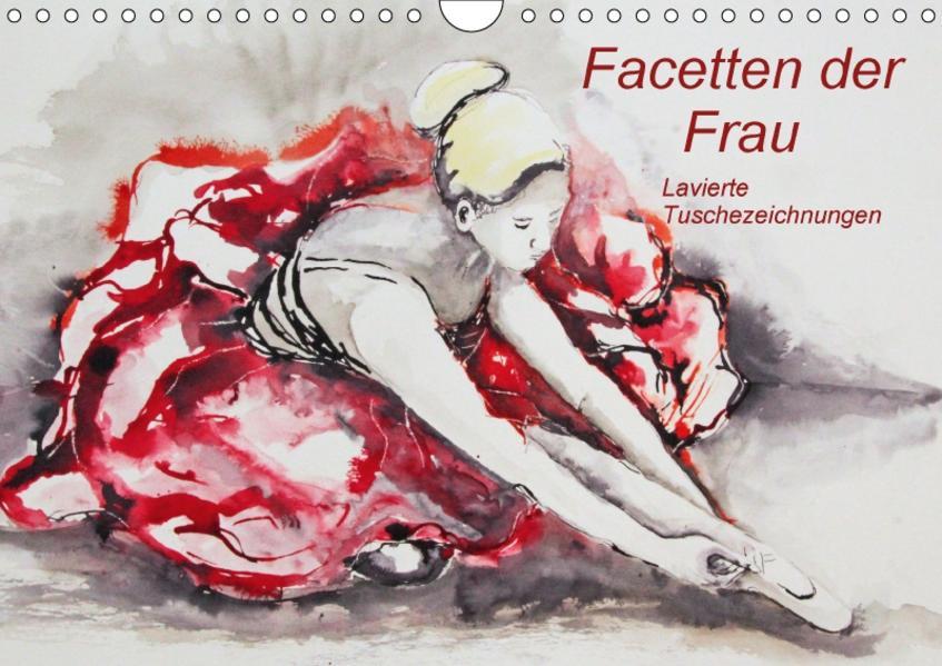 Facetten der Frau - Lavierte Tuschezeichnungen (Wandkalender 2017 DIN A4 quer) - Coverbild