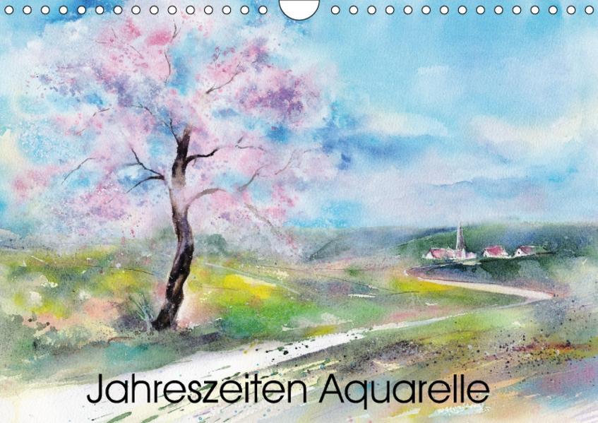 Jahreszeiten Aquarelle (Wandkalender 2017 DIN A4 quer) - Coverbild