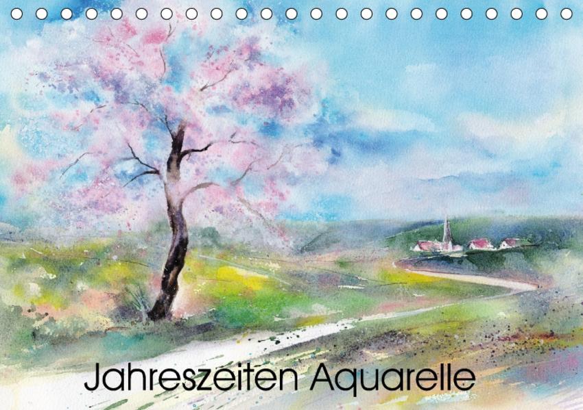 Jahreszeiten Aquarelle (Tischkalender 2017 DIN A5 quer) - Coverbild