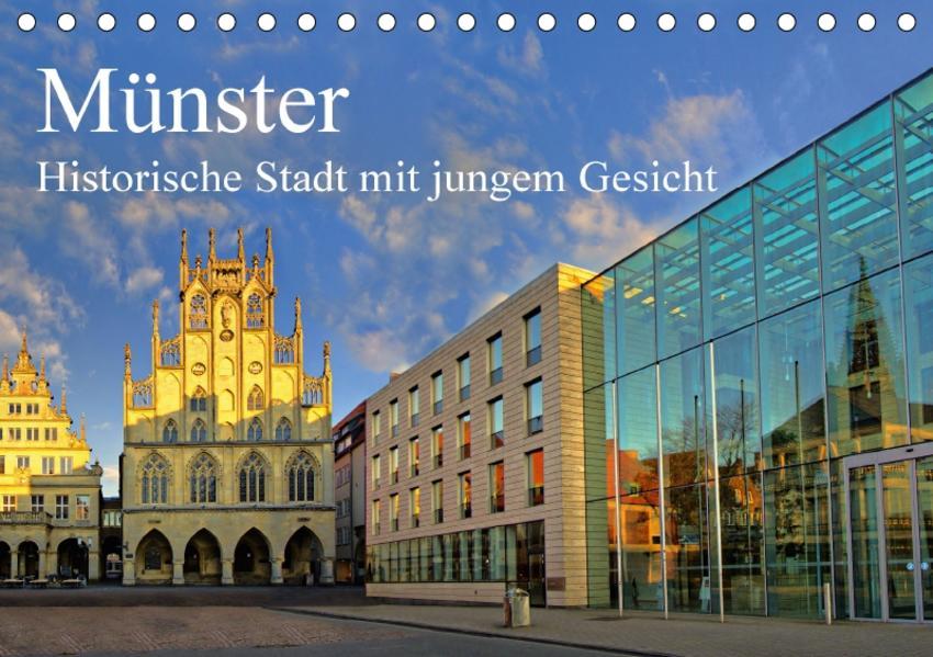 Münster - Historische Stadt mit jungem Gesicht (Tischkalender 2017 DIN A5 quer) - Coverbild
