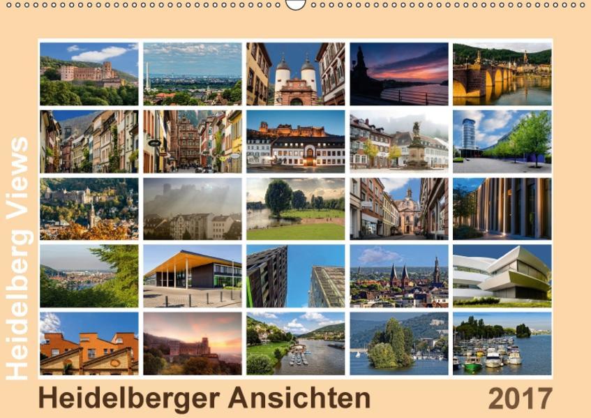 Heidelberg Views - Heidelberger Ansichten (Wandkalender 2017 DIN A2 quer) - Coverbild