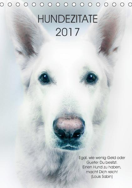 Hundezitate 2017 (Tischkalender 2017 DIN A5 hoch) - Coverbild