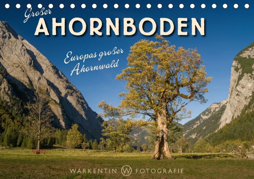 Großer Ahornboden - Europas großer Ahornwald (Tischkalender 2017 DIN A5 quer) - Coverbild