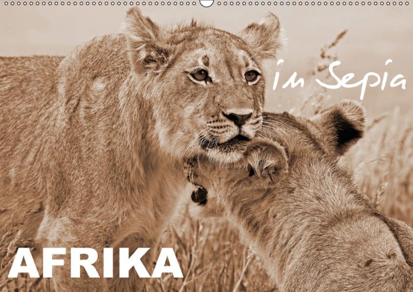 AFRIKA in Sepia (Wandkalender 2017 DIN A2 quer) - Coverbild