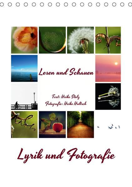 Lyrik und Fotografie - Lesen und Schauen (Tischkalender 2017 DIN A5 hoch) - Coverbild