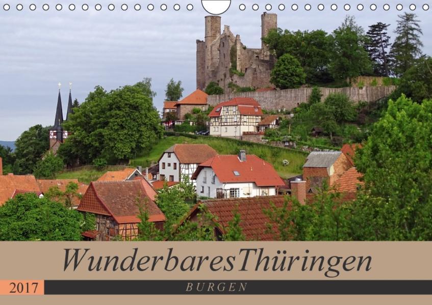 Wunderbares Thüringen - Burgen (Wandkalender 2017 DIN A4 quer) - Coverbild