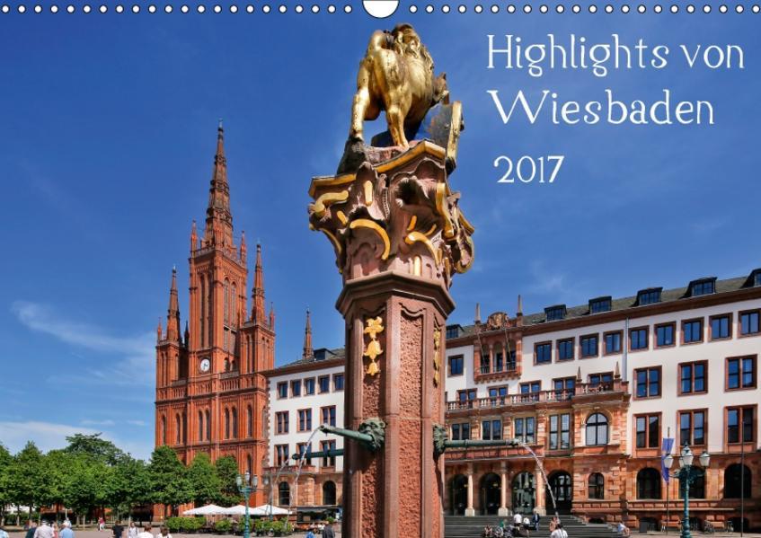 Highlights von Wiesbaden (Wandkalender 2017 DIN A3 quer) - Coverbild