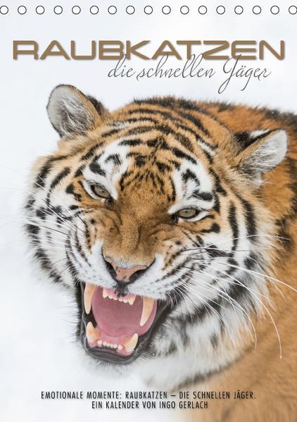 Emotionale Momente: Raubkatzen - die schnellen Jäger. (Tischkalender 2017 DIN A5 hoch) - Coverbild