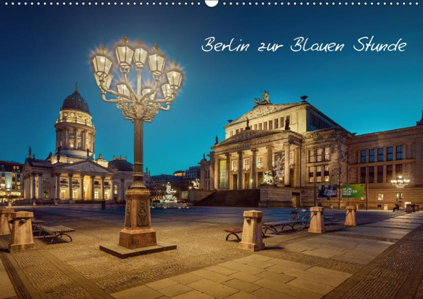 Die Blaue Stunde in Berlin (Wandkalender 2017 DIN A2 quer) - Coverbild