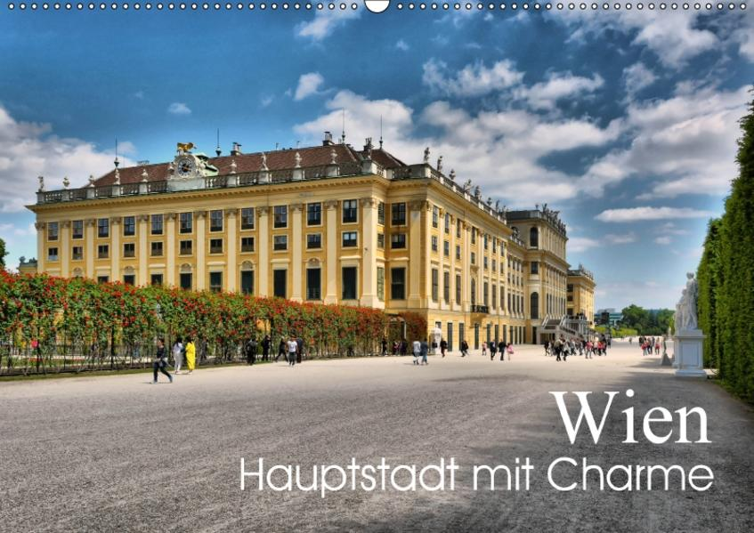 Wien - Haupstadt mit CharmeAT-Version  (Wandkalender 2017 DIN A2 quer) - Coverbild