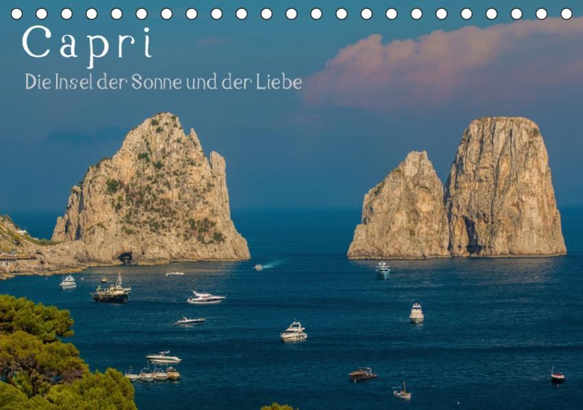 Capri - Die Insel der Sonne und der LiebeCH-Version  (Tischkalender 2017 DIN A5 quer) - Coverbild