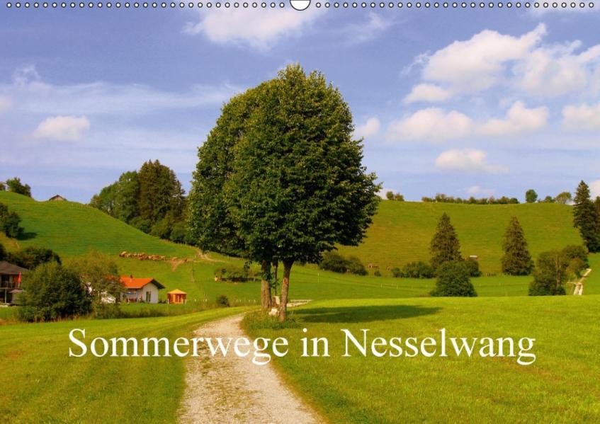 Sommerwege in Nesselwang (Wandkalender 2017 DIN A2 quer) - Coverbild