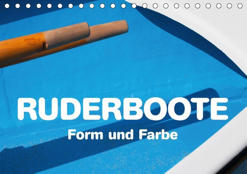 Ruderboote - Form und Farbe (Tischkalender 2017 DIN A5 quer) - Coverbild