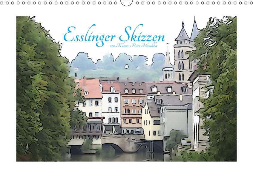 Esslinger Skizzen (Wandkalender 2017 DIN A3 quer) - Coverbild
